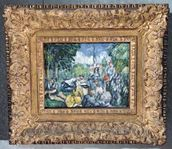 Dejeuner sur lherbe, 1876-77 (oil on canvas) wallpaper mural thumbnail