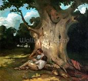 The Large Oak (oil on canvas) mural wallpaper thumbnail