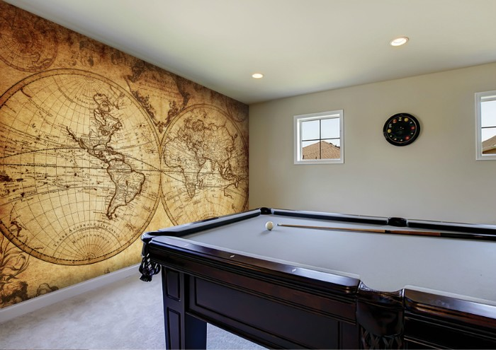 Ancient old style map wall mural from Wallsauce