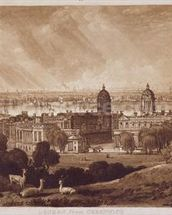 London from Greenwich, engraved by Charles Turner (1773-1857) 1811 (engraving) wallpaper mural thumbnail