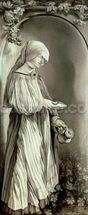 St. Elizabeth of Hungary (1207-31) 1509 (grisaille) mural wallpaper thumbnail