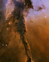 The Eagle Has Risen: Stellar Spire in the Eagle Nebula wallpaper mural thumbnail