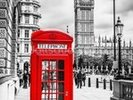 London Telephone Box wall mural thumbnail