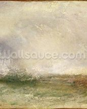 Stormy Sea Breaking on a Shore, 1840-5 (oil on canvas) wallpaper mural thumbnail