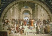 School of Athens, from the Stanza della Segnatura, 1510-11 (fresco) wall mural thumbnail