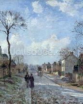 The Road to Louveciennes, 1872 (oil on canvas) wall mural thumbnail