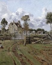 Pontoise Landscape, c.1872 (oil on canvas) mural wallpaper thumbnail