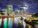Brisbane at Night wall mural thumbnail