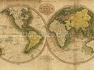 Old Map of the World wall mural thumbnail