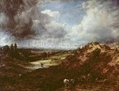 Branch Hill Pond, Hampstead Heath, 1828 (oil on canvas) wall mural thumbnail