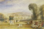 Richmond Hill and Bridge, Surrey, c.1831 (w/c on paper) wall mural thumbnail