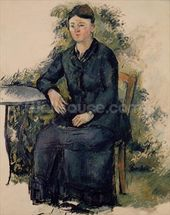 Madame Cezanne in the Garden, 1880-82 (oil on canvas) mural wallpaper thumbnail