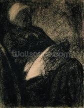 Embroiderer, 1882 (charcoal on paper) wallpaper mural thumbnail