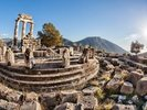 The Temple of Athena, Delphi, Greece wall mural thumbnail