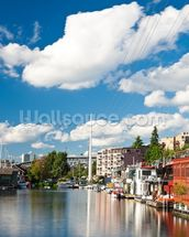 Lake Union Houseboats, Seattle wallpaper mural thumbnail
