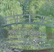 The Waterlily Pond: Green Harmony, 1899 (oil on canvas) wallpaper mural thumbnail