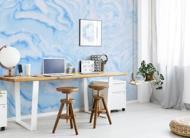 How to Style Marble Wallpaper