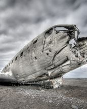 Old US Plane Wreck, Iceland wallpaper mural thumbnail