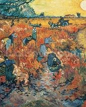 Red Vineyards at Arles, 1888 (oil on canvas) mural wallpaper thumbnail