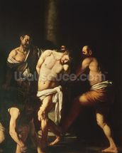 Flagellation, 1607 (oil on canvas) wall mural thumbnail