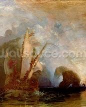 Ulysses Deriding Polyphemus, 1829 (oil on canvas) (for detail see 99614) mural wallpaper thumbnail