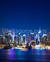 Manhattan Night Skyline mural wallpaper thumbnail