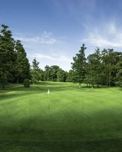 Tranquil Sunset, Mill Green Golf Club, Hertfordshire, England wallpaper mural thumbnail