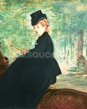 The Horsewoman, 1875 (oil on canvas) wall mural thumbnail