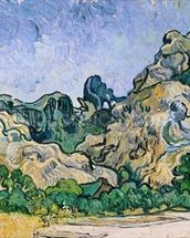 The Alpilles, 1889 (oil on canvas) mural wallpaper thumbnail