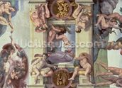 Sistine Chapel Ceiling (1508-12): The Creation of Eve, 1510 (fresco) (post restoration) wallpaper mural thumbnail
