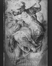 The Libyan Sibyl, after Michangelo Buonarroti (pierre noire & red chalk on paper) wall mural thumbnail