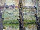 View of Arles, 1889 (oil on canvas) wall mural thumbnail