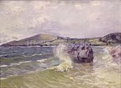 Ladys Cove, Wales, 1897 (oil on canvas) mural wallpaper thumbnail