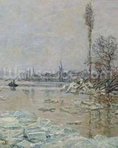 Breakup of Ice, 1880 (oil on canvas) wall mural thumbnail