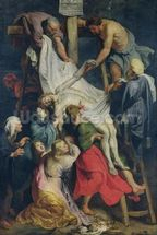 Descent from the Cross, 1617 (oil on canvas) mural wallpaper thumbnail