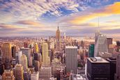 Midtown Manhattan Sunset wallpaper mural thumbnail