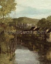 The Reflection of Ornans, c.1872 (oil on canvas) mural wallpaper thumbnail