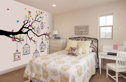 birdcage wall mural
