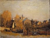 Frosty Morning in Louveciennes, 1873 mural wallpaper thumbnail