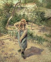 Woman Digging in an Orchard, 1882 wallpaper mural thumbnail
