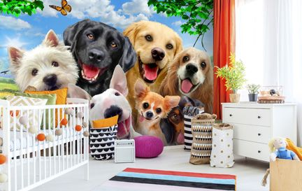 Dog Wallpaper Wall Murals Wallsauce Au