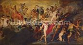 The Medici Cycle: Council of the Gods for the Spanish Marriage, 1621-25 (oil on canvas) wall mural thumbnail