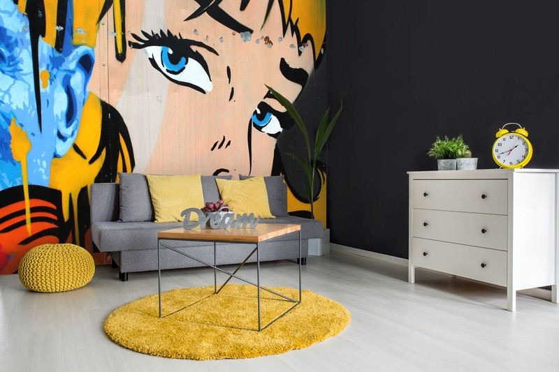 Retro Theme To Your Home From Bright Word Art Romance Youll Find Plenty Of Wallpaper Inspired By The Pop Era In This Collection