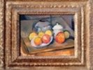 Straw-covered vase, sugar bowl and apples, 1890-93 (oil on canvas) (also see 393804) wall mural thumbnail