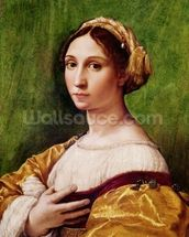 Portrait of a Young Girl (tempera on panel) mural wallpaper thumbnail