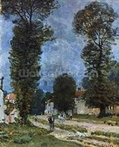 The Road to Marly-le-Roi, or The Road to Versailles, 1875 (oil on canvas) wall mural thumbnail