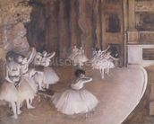 Ballet Rehearsal on the Stage, 1874 (oil on canvas) wall mural thumbnail