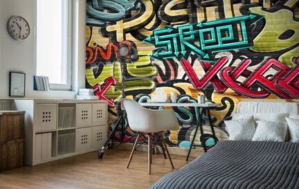 Graffiti Wallpaper Wall Murals Wallsauce USA