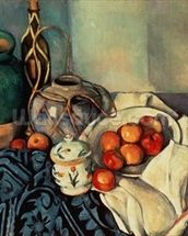 Still Life with Apples, 1893-94 (oil on canvas) wall mural thumbnail