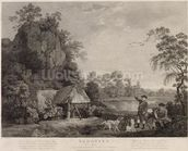 Shooting, plate 1, engraved by William Woollett (1735-85) 1769 (fifth state engraving and etching) mural wallpaper thumbnail